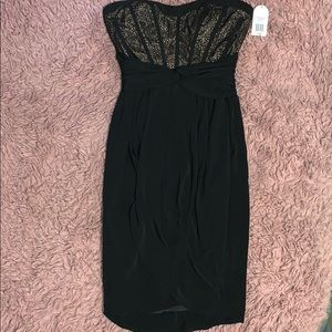 Jessica Simpson black dress with lace detail